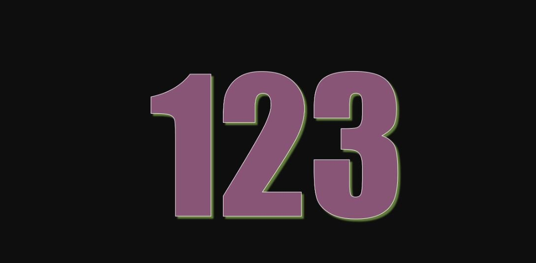Significado do número 123