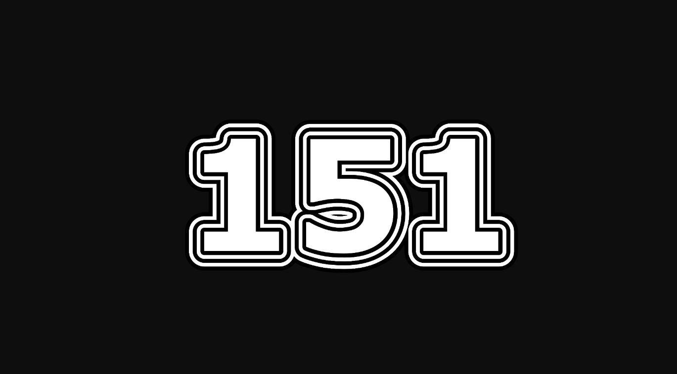 Significado do número 151