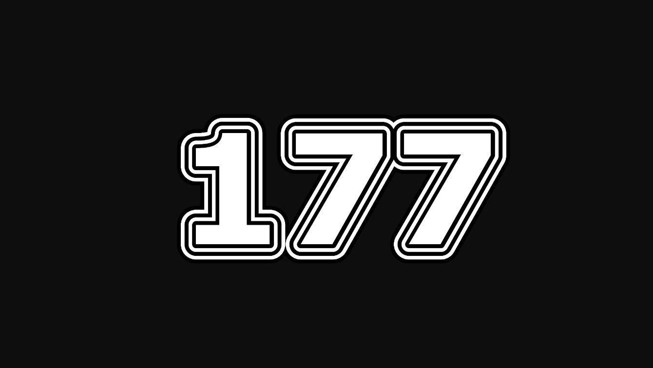 Significado do número 177