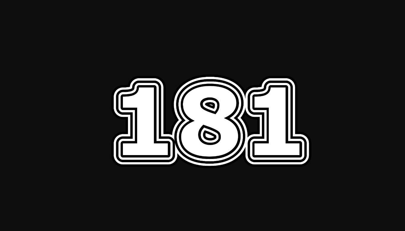 Significado do número 181