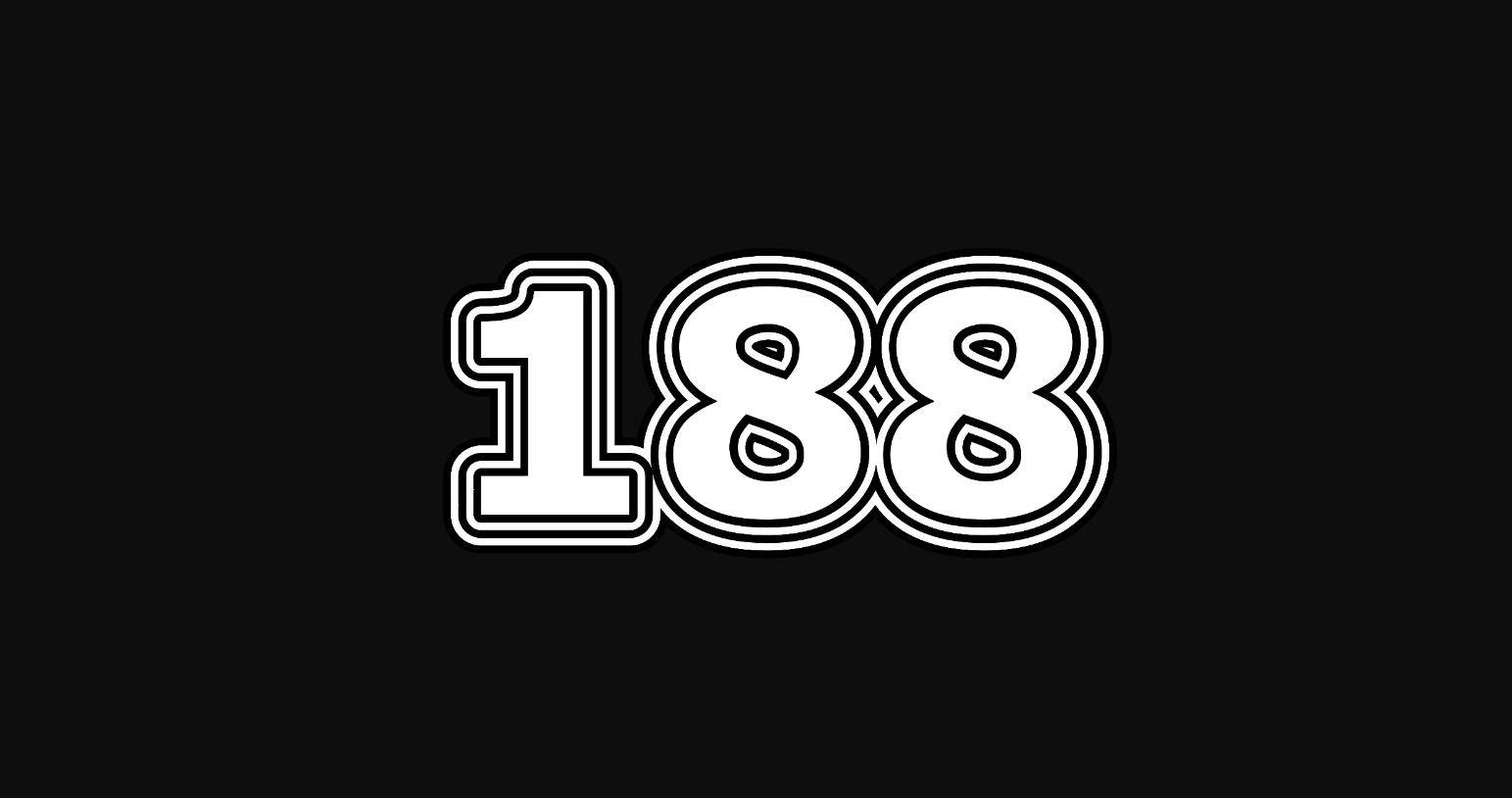 Significado do número 188