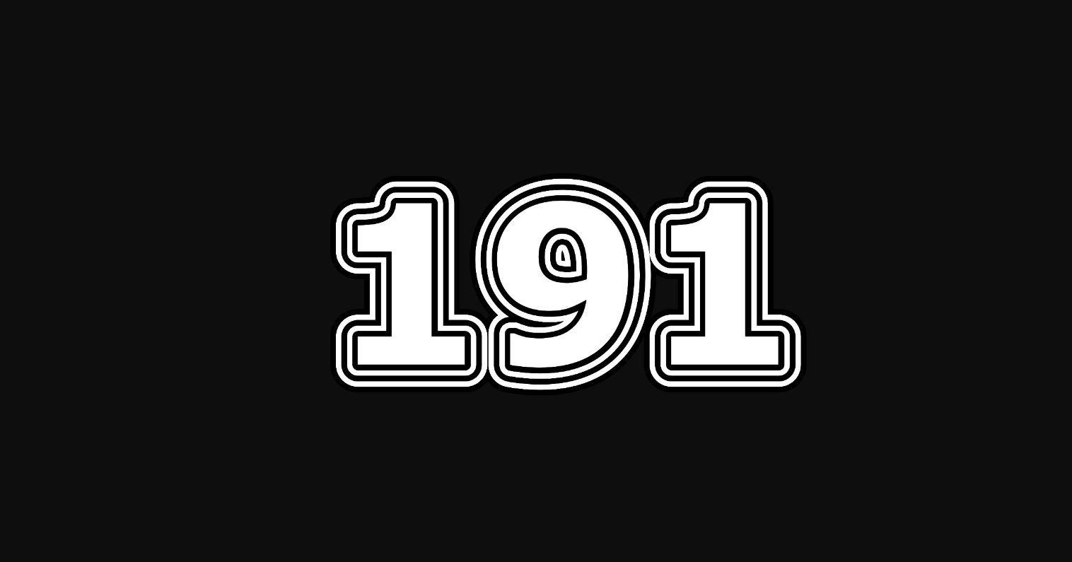 Significado do número 191