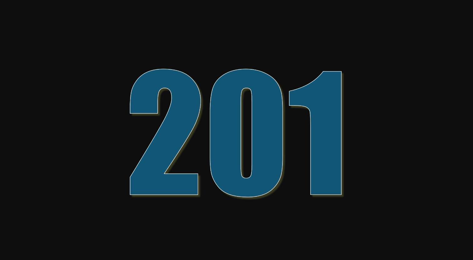 Significado do número 201