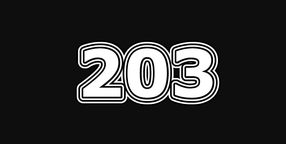 Significado do número 203
