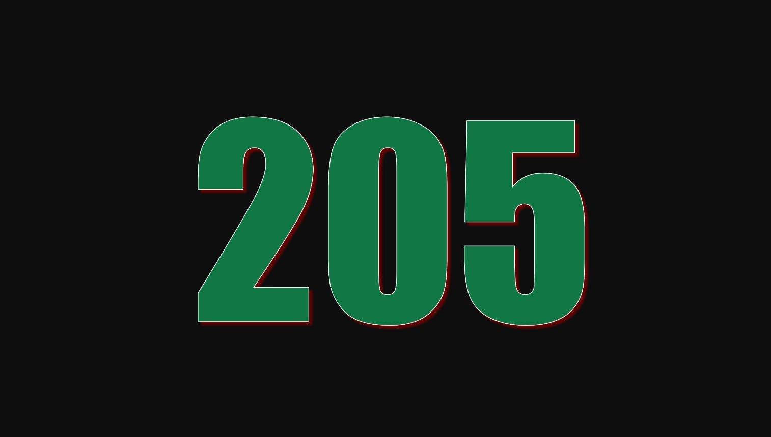 Significado do número 205