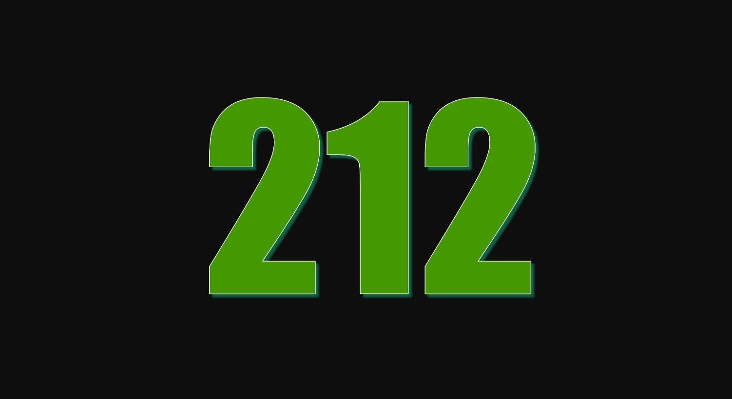Significado do número 212