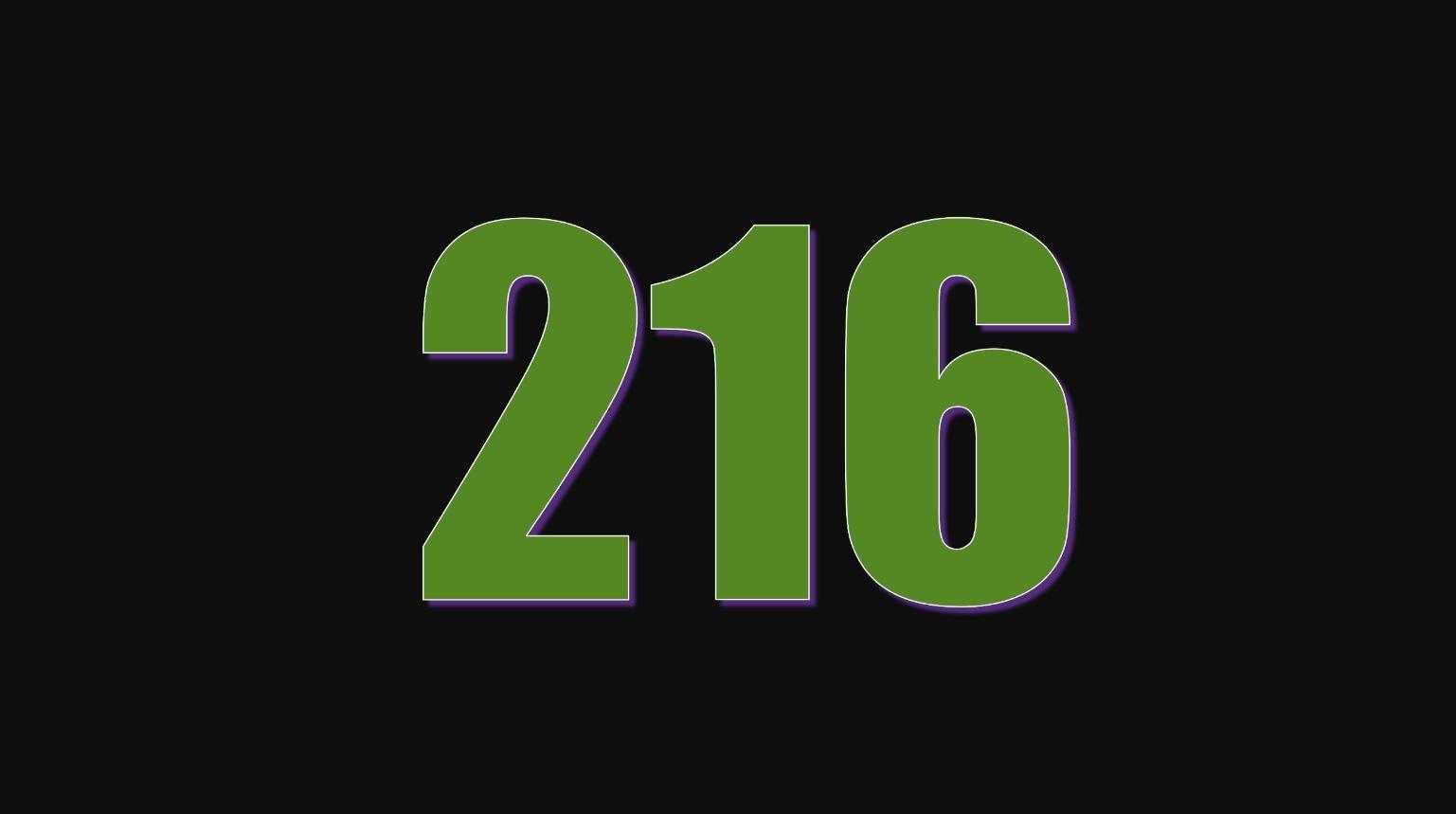 Significado do número 216