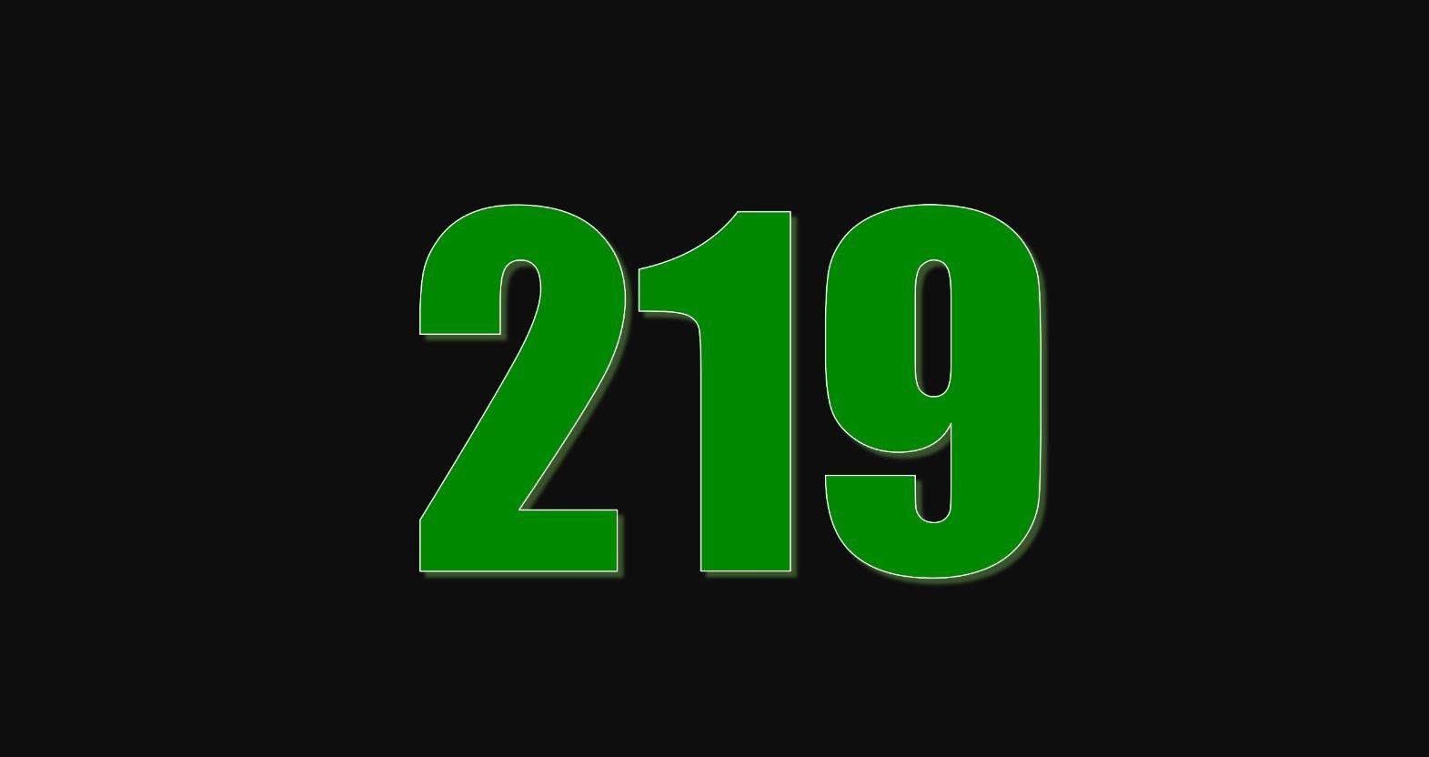 Significado do número 219