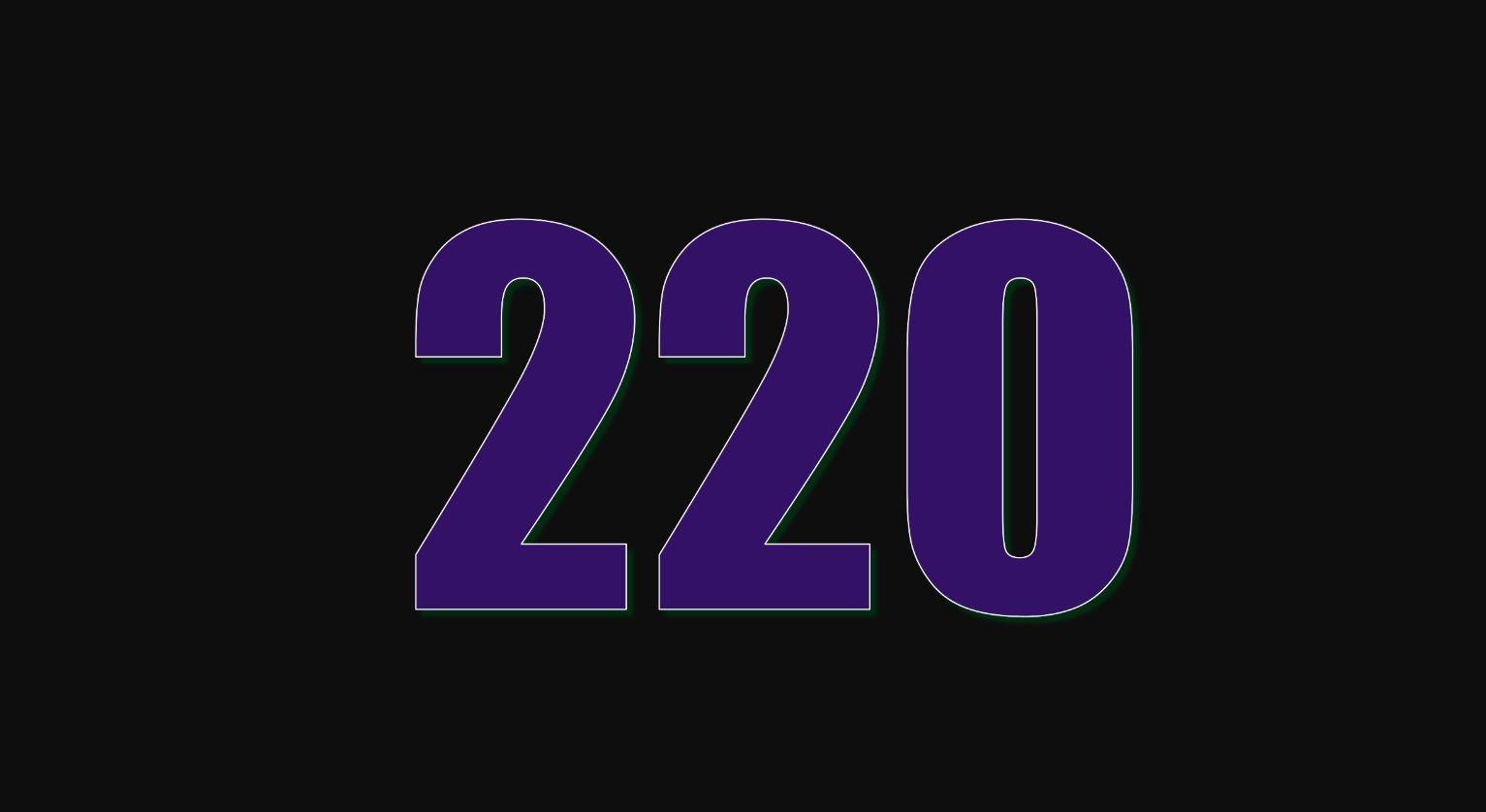 Significado do número 220