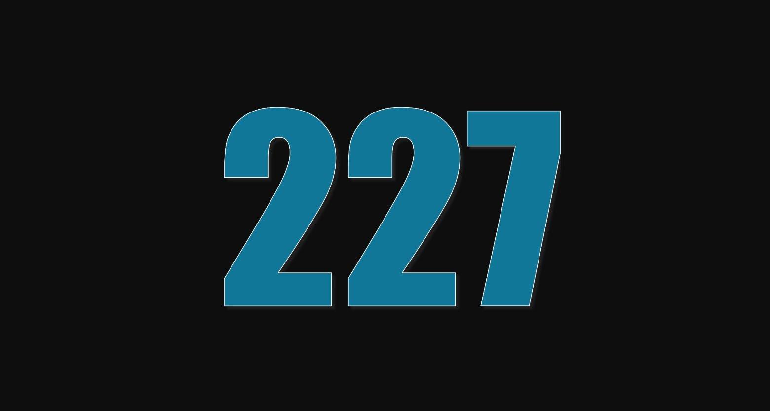 Significado do número 227