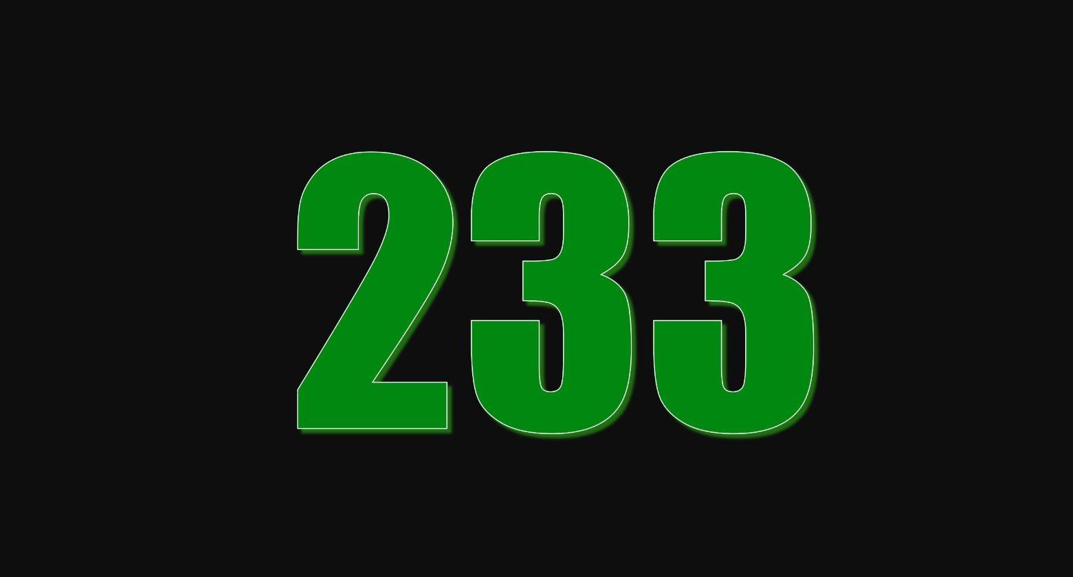 Significado do número 233