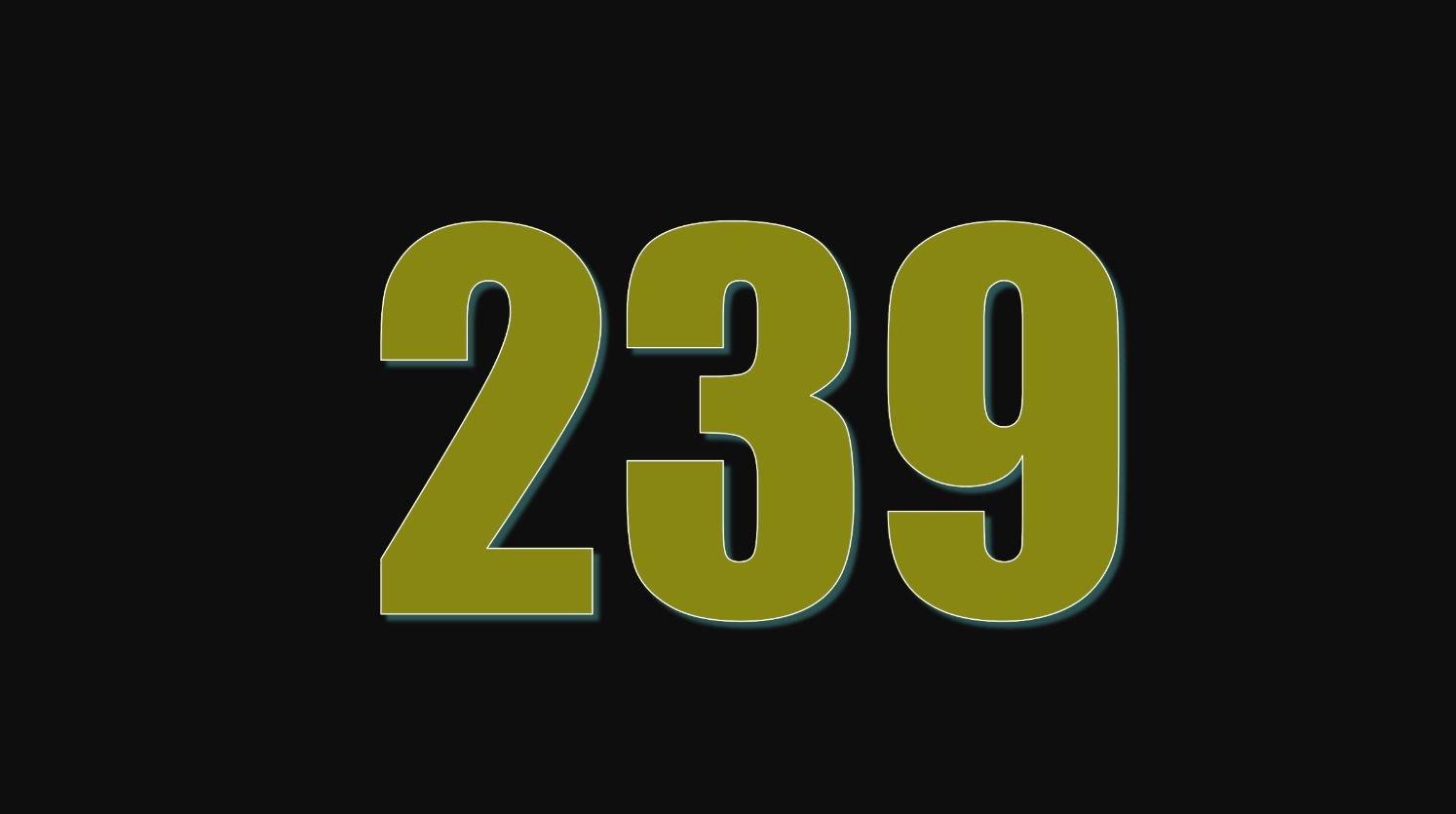 Significado do número 239