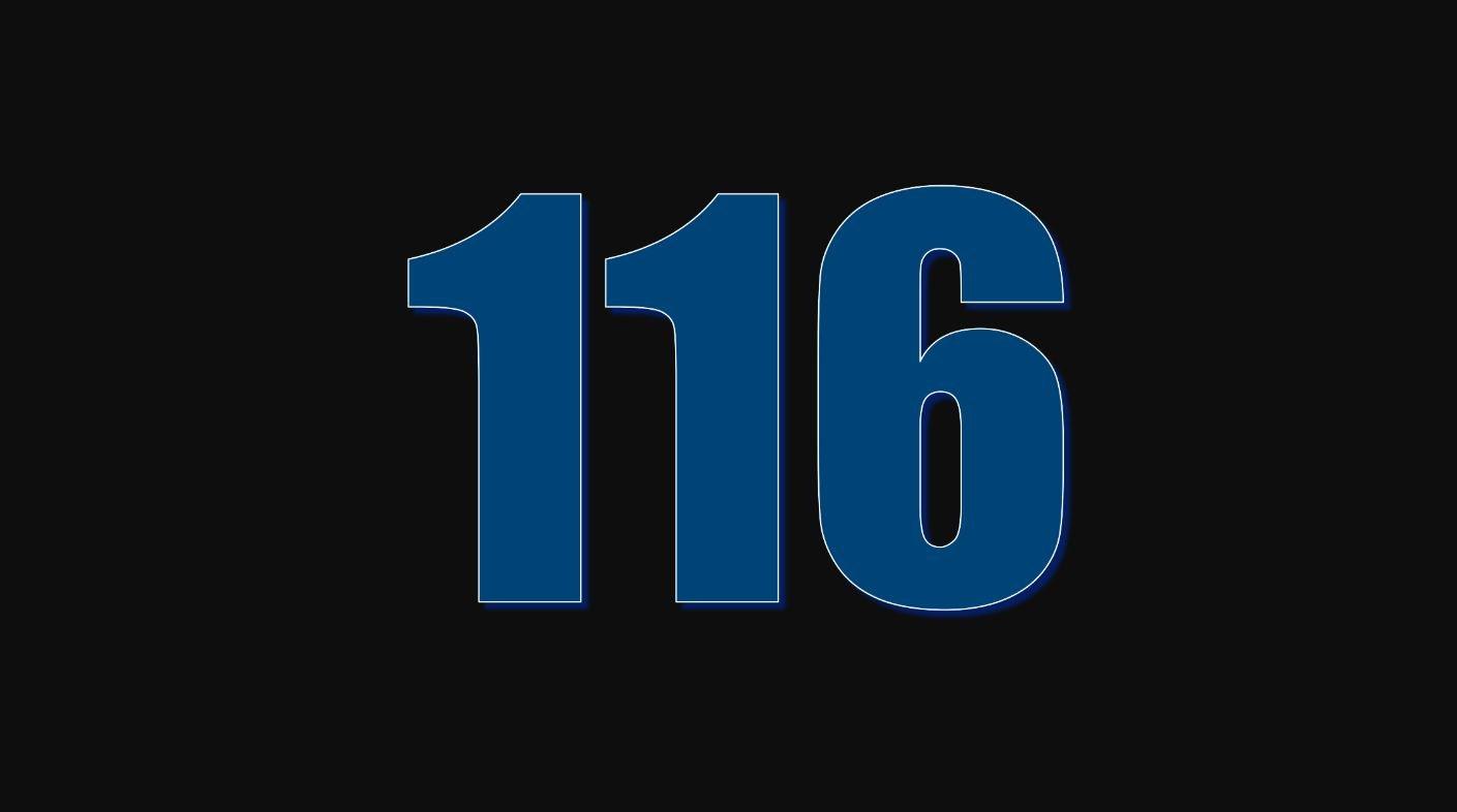 Significado do número 116
