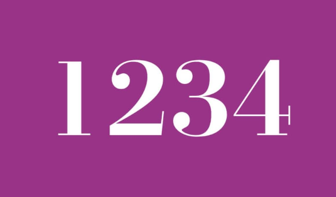 Significado do número 1234