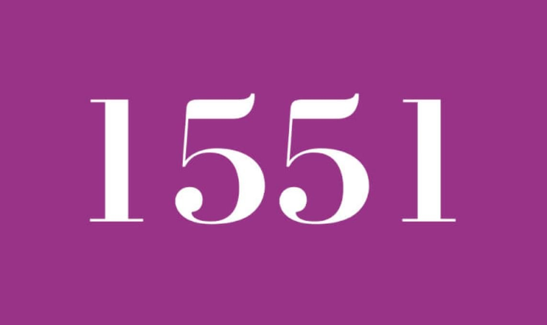 Significado do número 1551