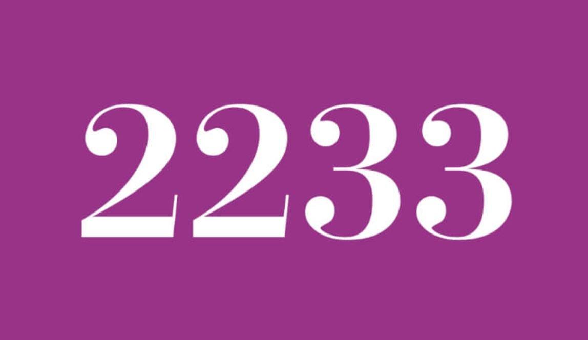 Significado do número 2233