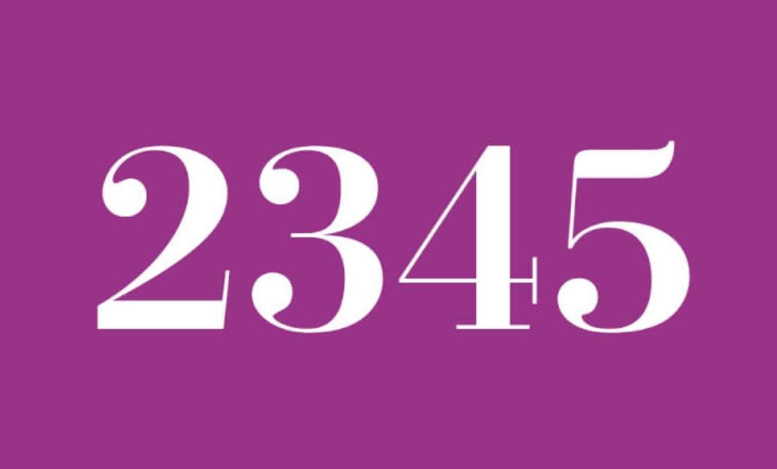 Significado do número 2345