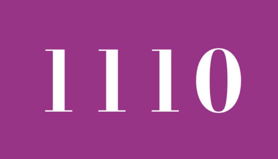 Significado do número 1110