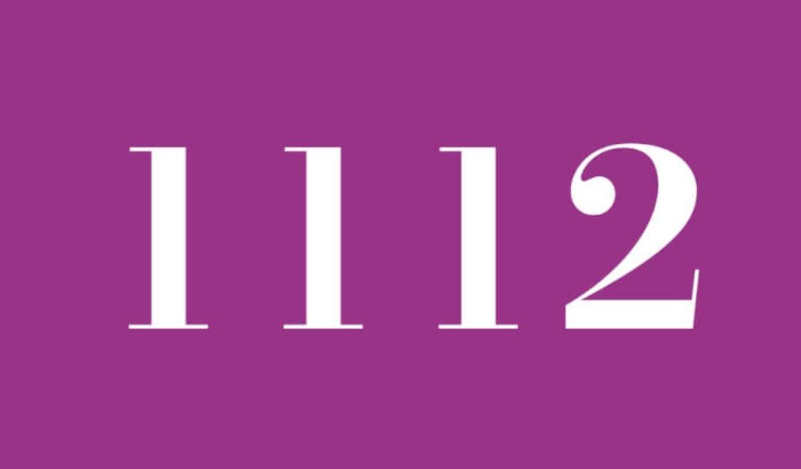 Significado do número 1112