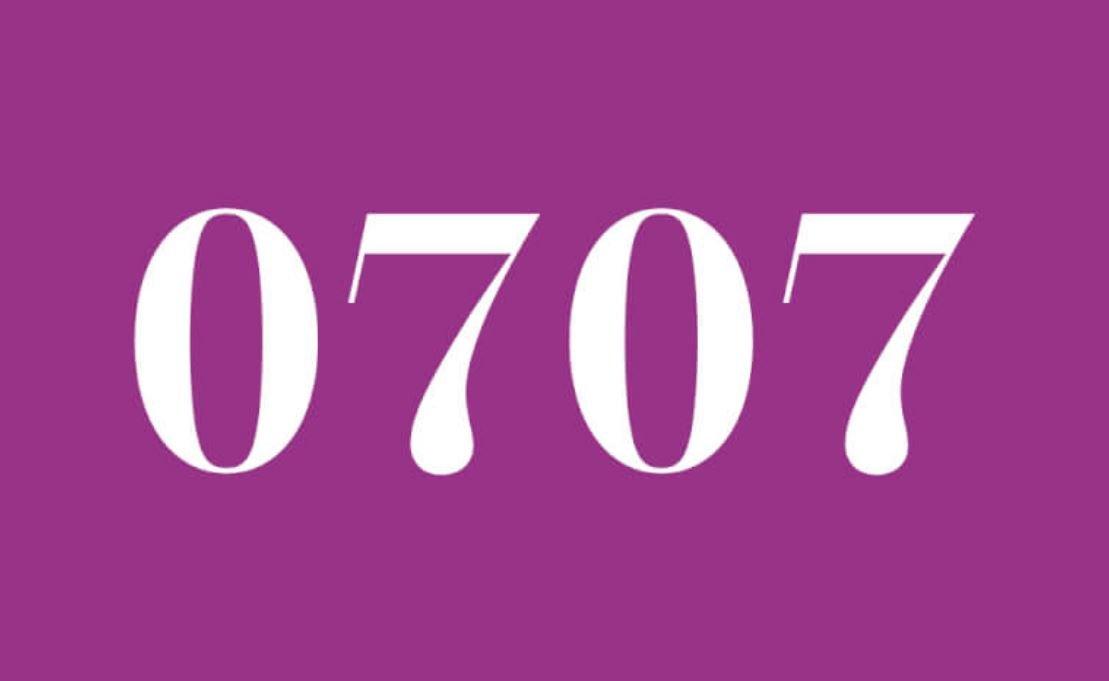 Significado do número 0707