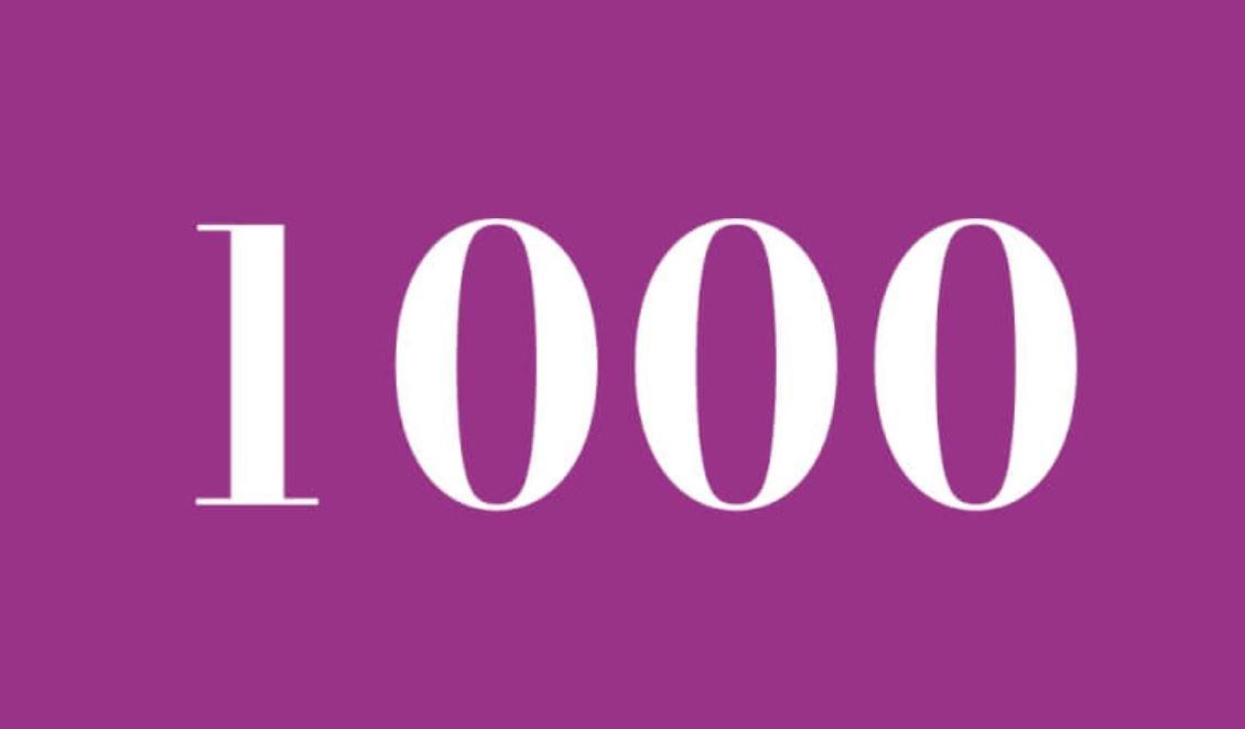 Anjo Número 1000