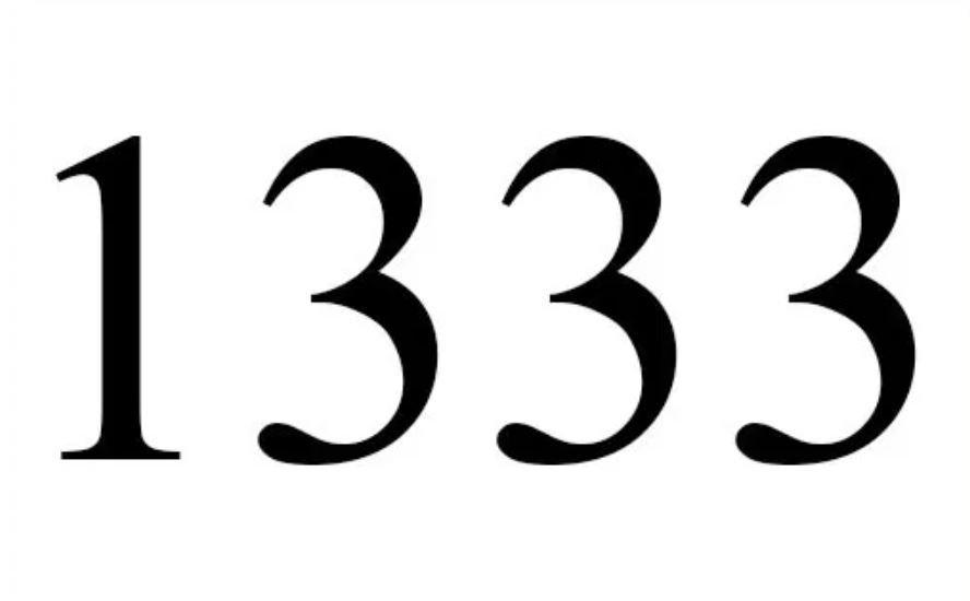 Anjo Número 1333